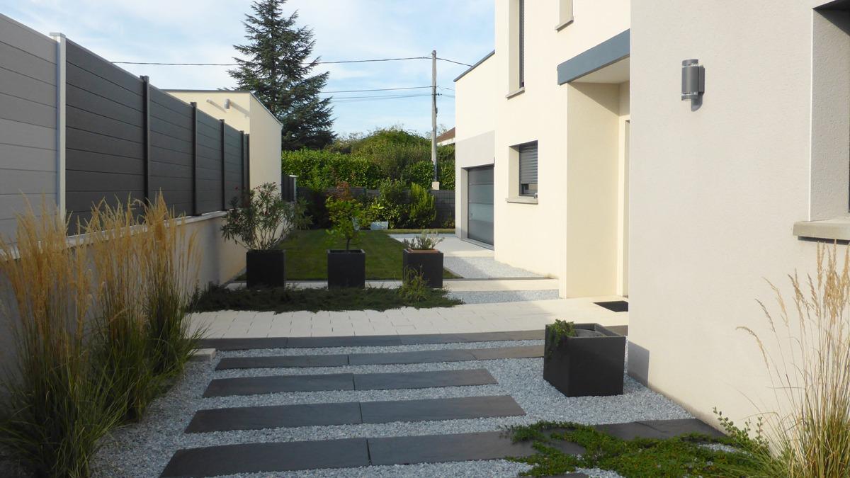 Photos d\'un jardin réalisé en Rhônes Alpes - Eden Design