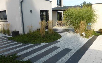 Photos d'un jardin réalisé en Rhônes Alpes