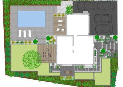 Dessin plan jardin