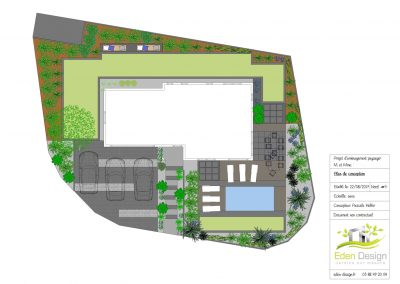Plan jardin maison