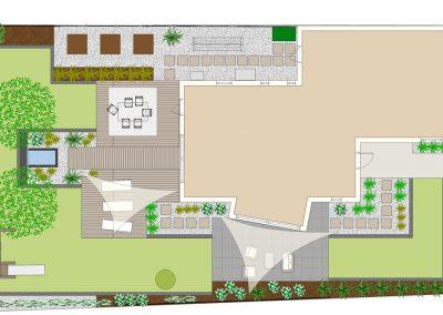 Plan de jardin privé