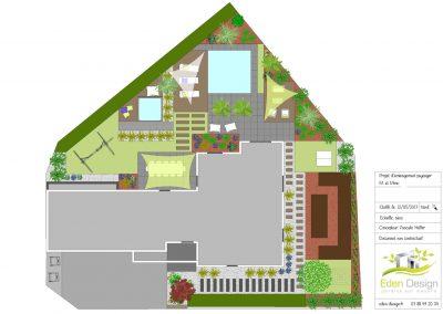 Plan aménagement extérieur Obernai Molsheim