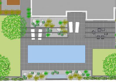 Plan jardin piscine