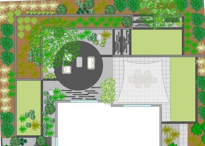 Plan jardin terrasse
