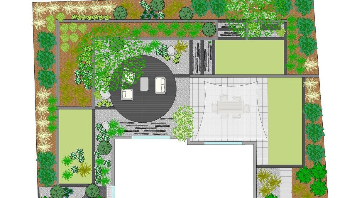 Plan de jardin en 3d eden design - Plan de jardin ...
