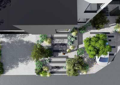Escalier 3d jardin