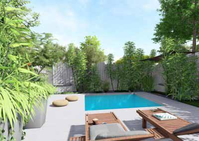 Jardin piscine 3d bois blanc__12 - Photo