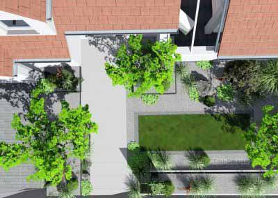 Plan aménagement extérieur