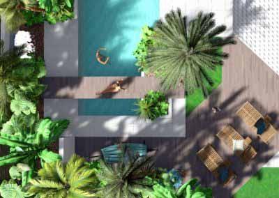 Piscine 3D Exotique plan Paysagiste