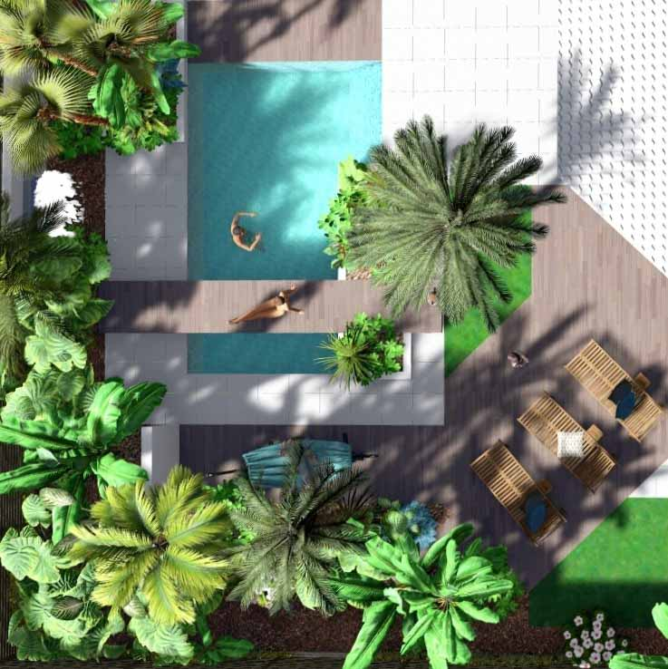 Piscine 3D Exotique photo Paysagiste