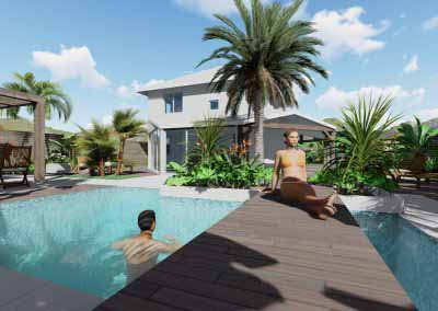 Piscine Photo 3D Paysagiste