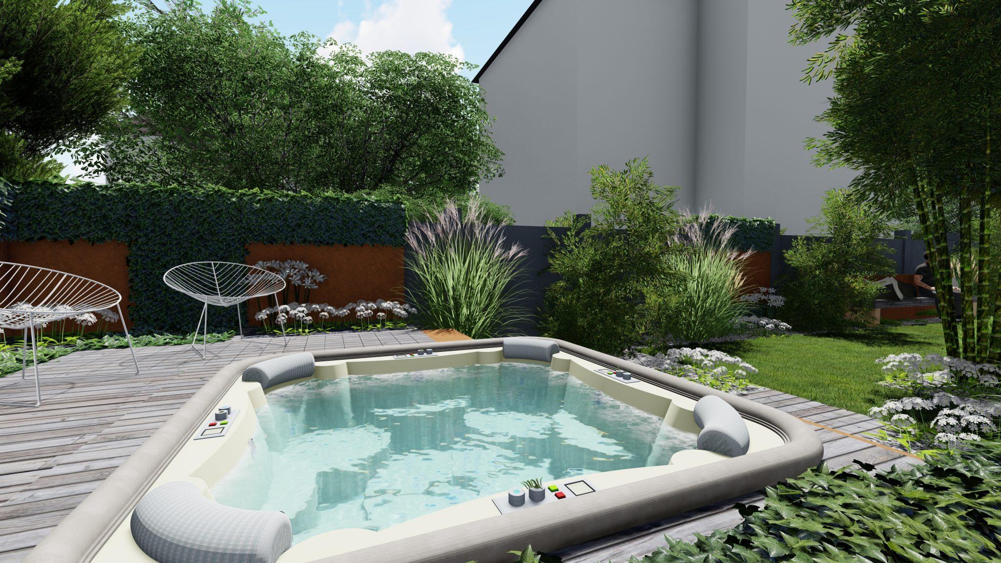 aménagement jardin spa Strasbourg paysagiste