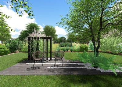 Photo jardin 3d bois