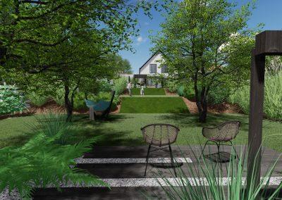 Jardin en pente en 3d