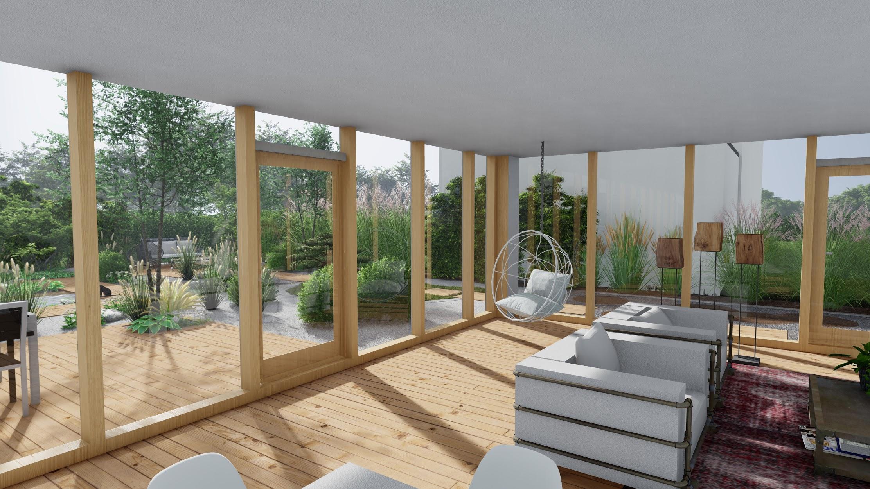 Photo 3d intérieur maison et jardin 67