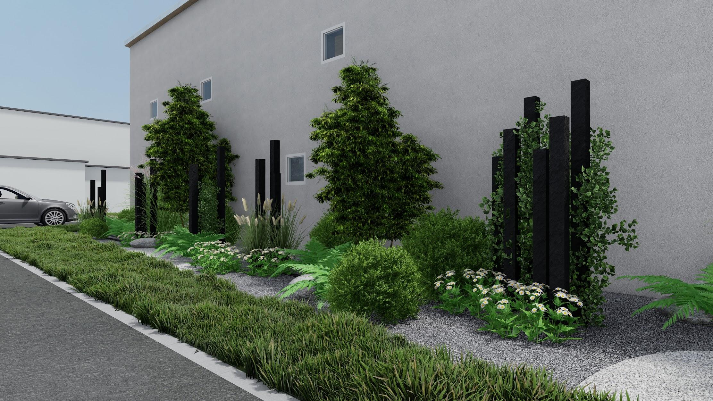 Plan 3d maison et jardin Alsace