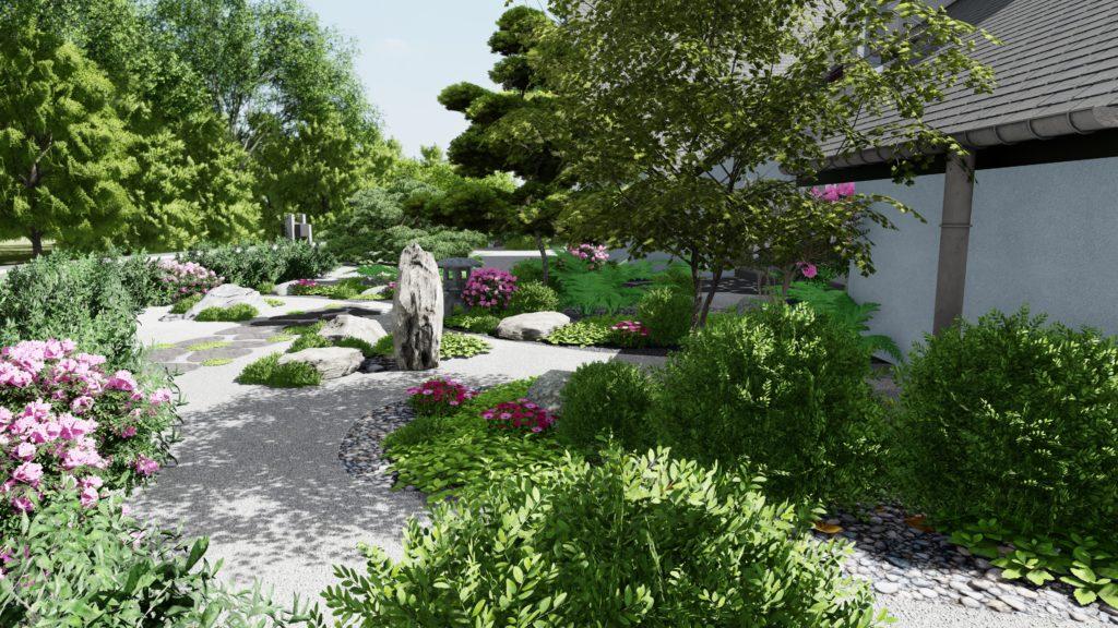 Jardin minéral de type Zen, par paysagiste conseil