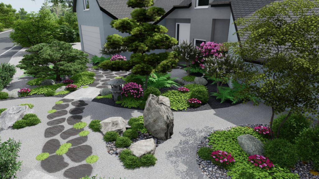 Visuel 3d, image paysagiste Jardin Japonais