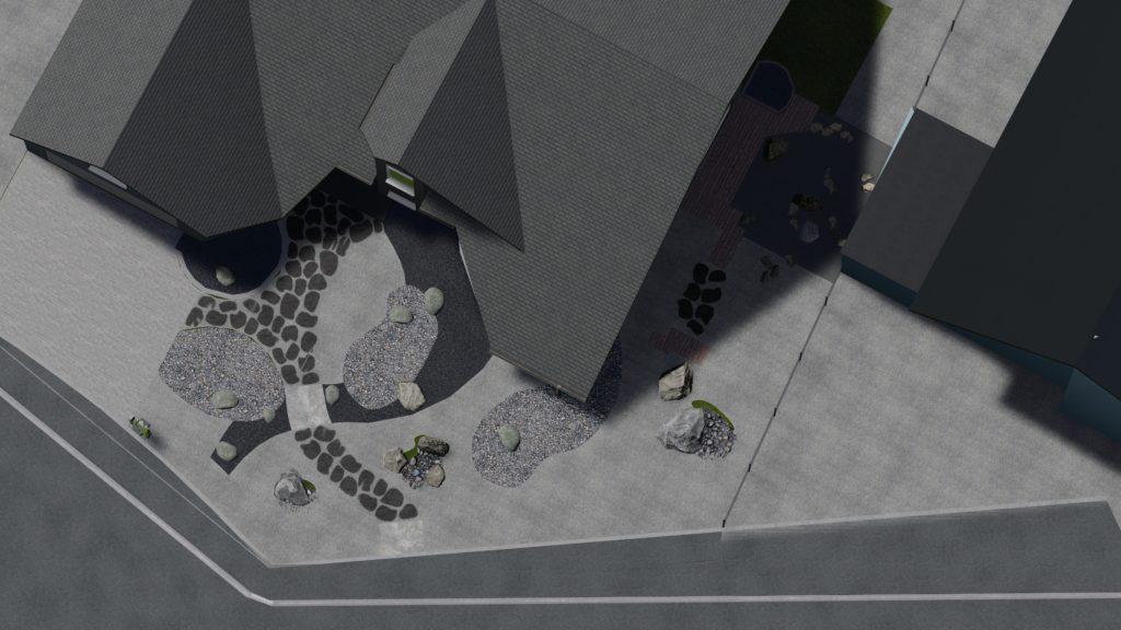 Plan de jardin minéral par Architecte Paysagiste