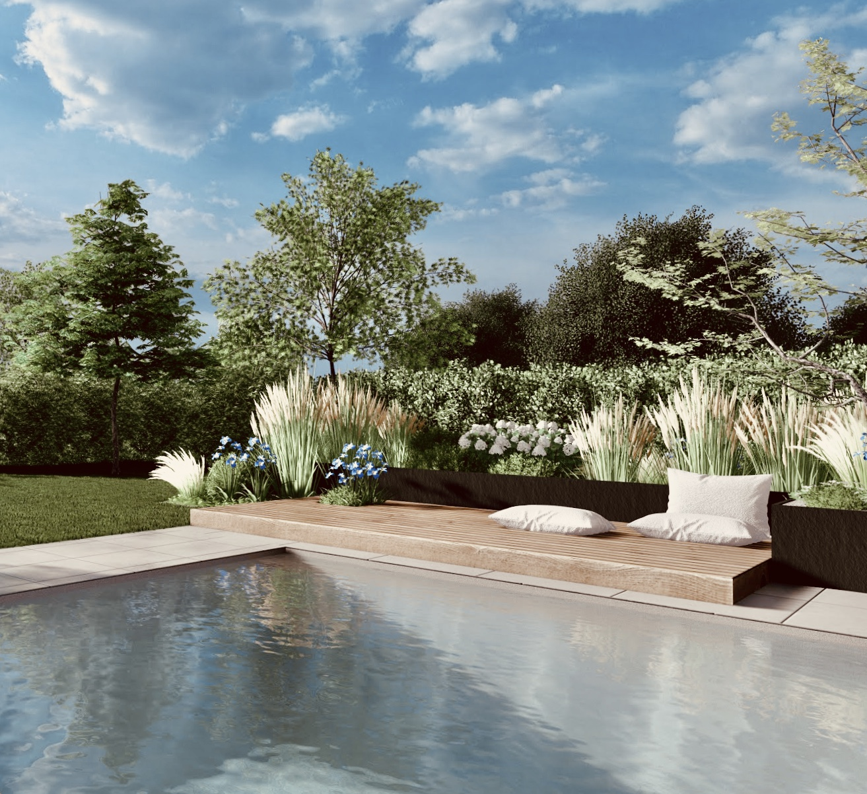 Architecte paysagiste Alsace Haguenau piscine