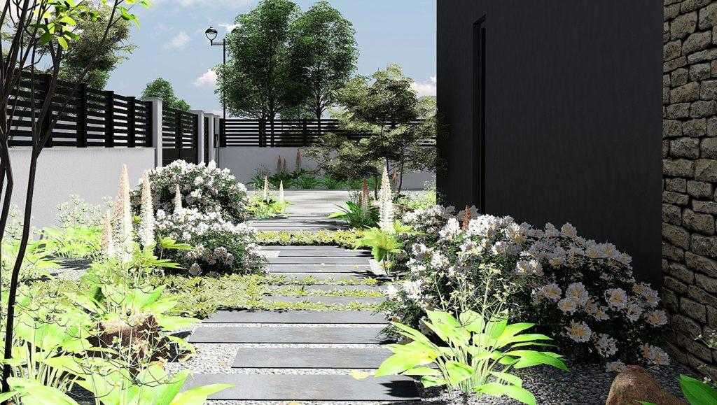 Allée de jardin paysagiste Paris