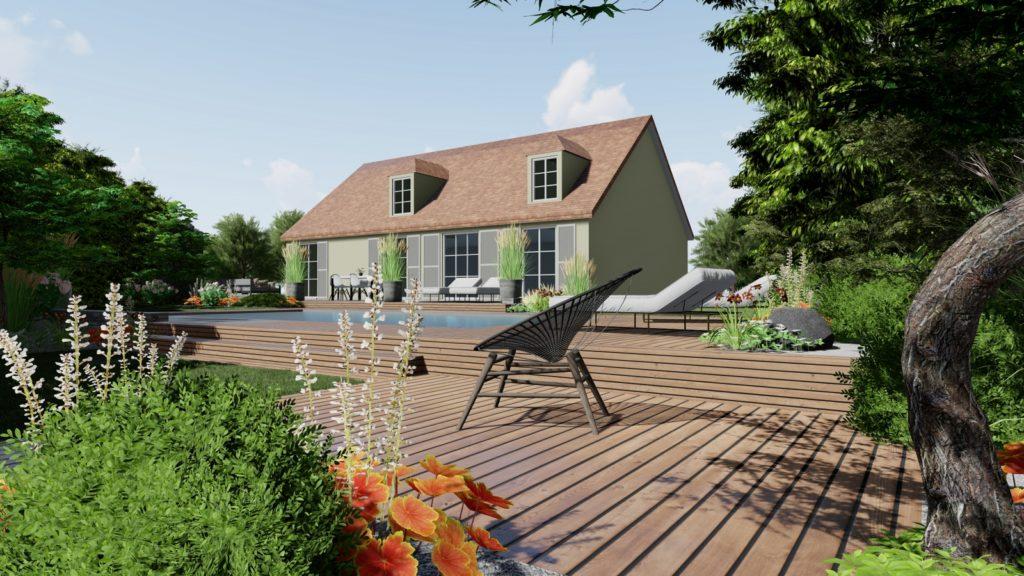 Photo 3D jardin en ligne