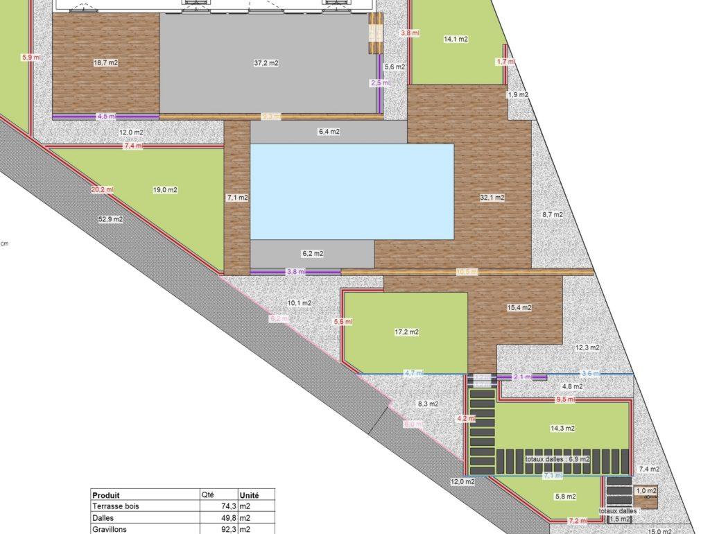 Plan travaux paysagiste architecte